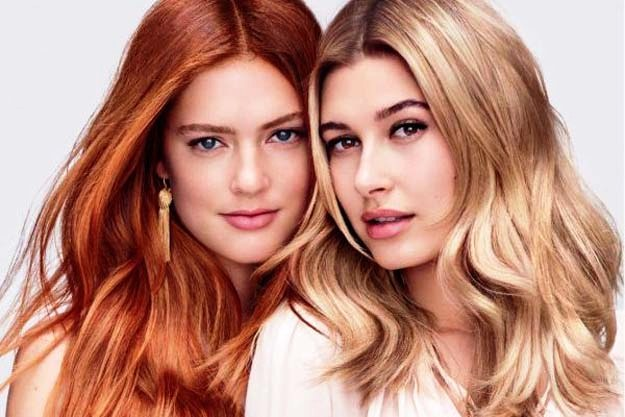 Emmy Rappe and Hailey Baldwin donning Copper Foilyage and Nude Beige respectively.