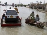 One-fifth of Pakistan is submerged and almost 10 million people are on the move with a total 20 million affected by the floods. PHOTO: REUTERS
