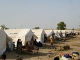 Tents donated by the UN