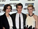 (L-R) Actors Keira Knightley, Andrew Garfield and Carey Mulligan.