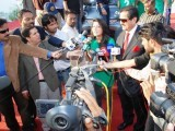 Media coverage after successfully breaking the record. PHOTO: AYMEN SALEEM