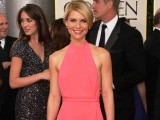 Claire Danes looked disappointing in a custom Calvin Klein