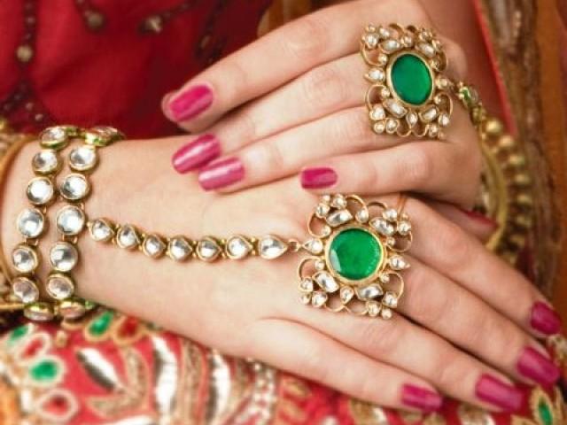 تزیین و ارایش عروس مدل پاکستانی