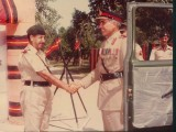1982 - Being recieved at the HQ 14FF in Abbottabad as Colonel Commandant.