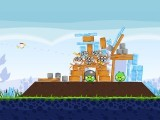 A screenshot from the Angry Birds game.