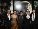 "Cast members (L-R) Tom Felton, Emma Watson, Daniel Radcliffe, Rupert Grint and Matthew Lewis arrive for the premiere of the film ""Harry Potter and the Deathly Hallows: Part 2"" in New York July. PHOTO: REUTERS"