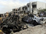 Tehrik-i-Taliban Pakistan claim responsibility for attack, name five Karachi police officials on Taliban hit list. PHOTO: AFP
