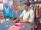 Women in Karachi talk so much about tailors; if you could tap all that energy through some scientific magic, you'd have several gallons of petrol.PHOTO: MUHAMMAD JAVAID