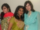 I do love wearing Shalwar Kameez. This is a picture of me and my friends beofre the mendhi of my friend's sister.