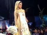 A model poses at bridal couture week 2011. PHOTO: MARIA UMAR