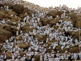 We were all the same. Wearing the same brand called Islam. There is no difference between us. There is no worry of being different from the others. This is what Hajj teaches you. PHOTO: AFP