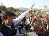 Imran Khan is an example of people looking forward, thinking, 'This may be the real deal'. PHOTO: AFP
