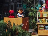 Sesame street characters with locally developed characters Rani and Munna. PHOTO: REUTERS