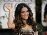 Actress Salma Hayek arrives at the 69th annual Golden Globe Awards in Beverly Hills, California January 15, 2012. PHOTO: REUTERS