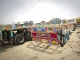 Ghich-pitch and totally kitsch, these brilliant canvases on wheels depict the true zinda-dil colors of Pakistan and its people perfectly! PHOTO: AFP