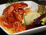 Sizzling prawns in chilli