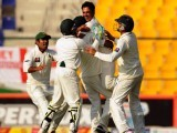 Before anyone realised it, Pakistan had topped a streak of six Test series without a loss and a 3-0 whitewash of the world's number one Test team.  PHOTO: REUTERS