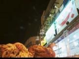 "In the late hours of the night, half the road is used by these restaurants: ""Butt Karahi Tikka"", ""New Butt Karahi Tikka"", ""Bhatti Krahi Tikka"", ""New Bhatti Karahi Tikka"". PHOTO: AREESH ZUBAIR"