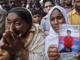 The condition in which the victims' bodies were brought was unrecognisable. They were charred.  PHOTO: REUTERS