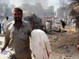 A suicide bomb blast in Pakistan. PHOTO: AFP