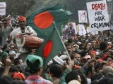 The Bangladeshi youth demands banning the Jamaat-e-Islami from politics and boycotting of institutions supporting or affiliated with Jamaat-e-Islami. PHOTO: AFP