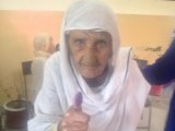 Arsham Jan is 100 years old and came on foot to vote.