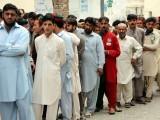 People voting in Swat. PHOTO: FAZAL KHALIQ