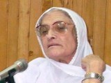 Begum Naseem Wali Khan - The first woman to be elected on a general seat from Khyber-Pakhtunkhwa. PHOTO: EXPRESS