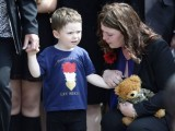 Jack and Rebecca Rigby, the son and wife of Lee Rigby. PHOTO: REUTERS