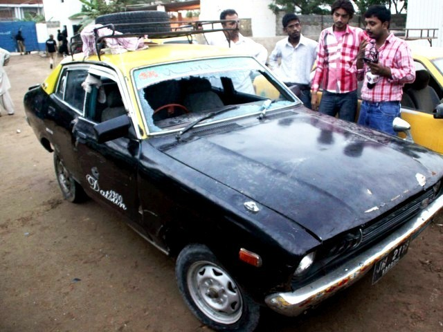 taxi of shot victim