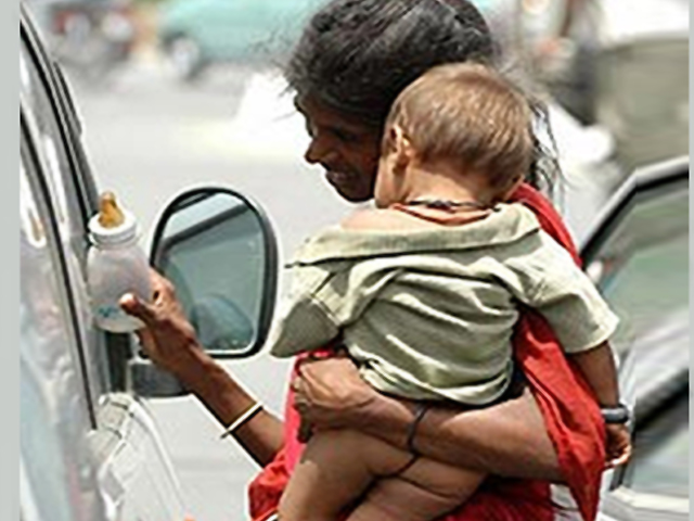 Image result for beggar with sedated child