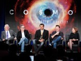 Team members of the new Cosmos present their show. PHOTO: REUTERS