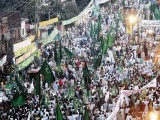 A large crowd gathers at a PML-N rally. PHOTO:AFP