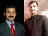 We lost two impeccable fighter pilots in a saddening crash in Karachi: (L) Squadron Leader Umair Elahi and (R) Wing Commander Khurram  Sammad.