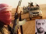 Fighters from the ISIS jihadist group driving near Tikrit. Left, ISIS leader Abu Bakr al-Baghdadi. Photo: AFP