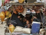 Zarb-e-Azb has already displaced thousands from the war torn region at a time when the refugees affected from previous conflicts and disasters haven't returned to their homes yet.PHOTO: AFP
