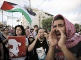 Israeli Arabs take part in a protest in the northern city of Acre against the abduction and killing of Palestinian teenager. PHOTO: REUTERS