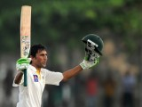 Younus's batting was typical of his style―those intricate cover drives, dancing down the track with spinners and toying with them, and the amazing shots. PHOTO: AFP
