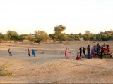 Villagers drawing water from a well outside Mithi. PHOTO: ATHAR KHAN/EXPRESS