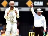 Nathan Lyon celebrates a wicket during Brisbane Test vs India. PHOTO: AFP