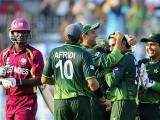 West Indies' batsmen fail to master the Pakistan bowlers. PHOTO: AFP