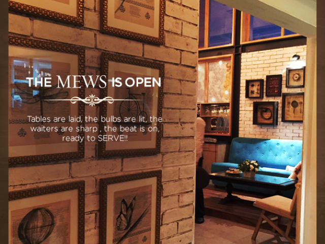 Mews Cafe Karachi Menu