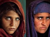 A then and now image of Sharbat BIbi published in National Geographic in 2002
