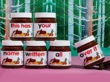 The 'Say it with Nutella' campaign allows chocolate enthusiasts to have their names or messages written on a jar of the chocolate spread with the use of an online app, which they could then share on social media. PHOTO: SELFRIDGES
