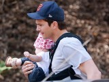 Ashton Kutcher takes his baby girl Wyatt hiking on March 10, 2015 in Los Angeles, California. PHOTO: FAMEFLY NET