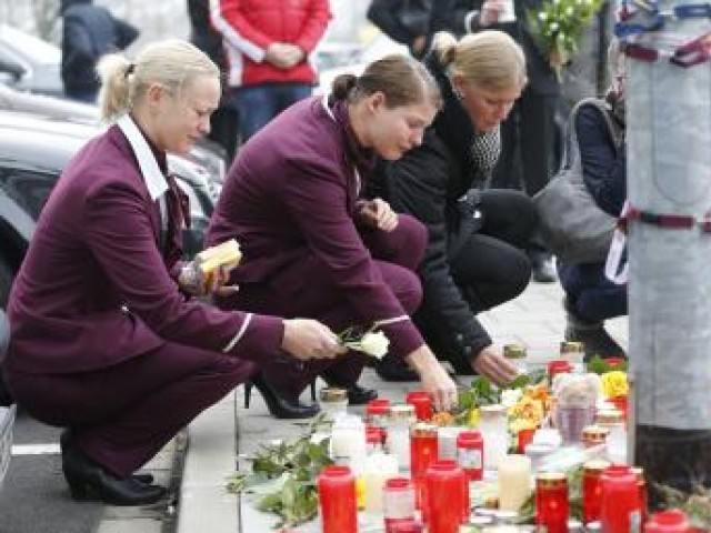Mourning for Germanwings flight. PHOTO: REUTERS