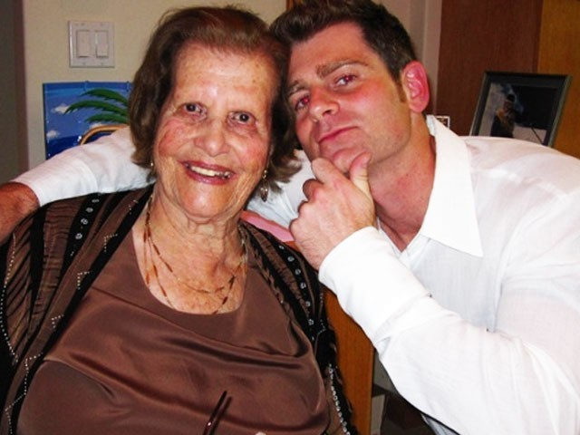 Celebrating Maria's 94th birthday together. PHOTO: Gregor Collins