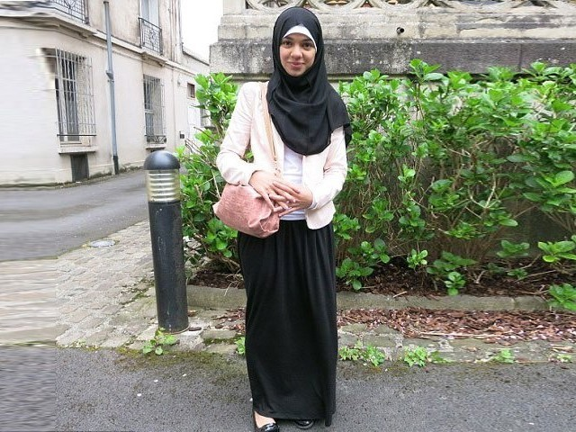 Sarah, a 15-year-old student in France, was suspended twice from class for wearing a long black skirt to school. PHOTO: TWITTER (@mailonline)