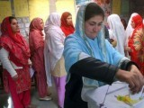 Women casting their votes in earlier elections held at G-B. PHOTO: APP