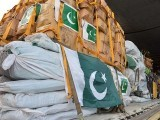 According to NDMA, the consignment comprises 700 tents and 400kg medicines. PHOTO: AFP